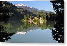 House On Green Lake Whistler B.c Canada Acrylic Print by Pierre Leclerc Photography
