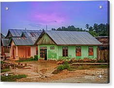 Acrylic Print featuring the photograph Houses by Charuhas Images