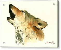 Howling Wolf Acrylic Print