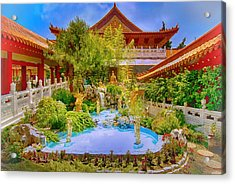 Hsi Lai Temple Acrylic Print by Joseph Hollingsworth