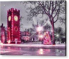 Hudson Holidays Acrylic Print by Kenneth Krolikowski