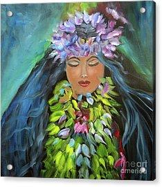 Hula Maiden Acrylic Print