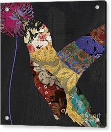 Hummingbird Brocade IIi  Acrylic Print