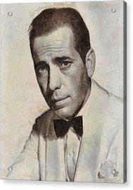 Humphrey Bogart Vintage Hollywood Actor Acrylic Print by John Springfield