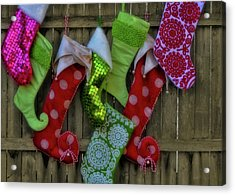 Stockings Hung With Care Acrylic Print by JAMART Photography