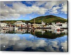 Husavik Harbor Acrylic Print