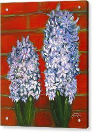 Acrylic Print featuring the painting Hyacinths by Patricia Januszkiewicz