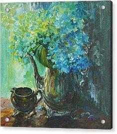 Hydrangea 2 Acrylic Print by Gloria Turner