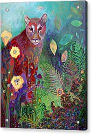 I Am The Forest Path Acrylic Print by Jennifer Lommers