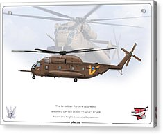Acrylic Print featuring the drawing Iaf Sikorsky Ch 53 2025 by Amos Dor