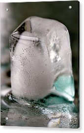 Acrylic Print featuring the photograph Ice Cube by Rico Besserdich