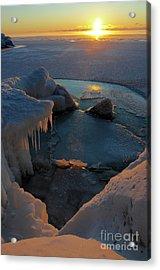Icy Superior Sunrise Acrylic Print