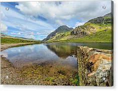 Acrylic Print featuring the photograph Idwal Lake Snowdonia by Adrian Evans