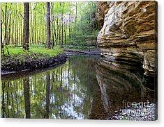 Illinois Canyon In Spring Acrylic Print