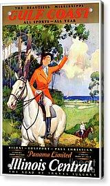 Illinois Mississippi Restored Vintage Poster Acrylic Print by Carsten Reisinger