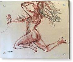 Imaginary Nude Acrylic Print by Alejandro Lopez-Tasso
