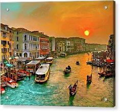Imbarcando. Venezia Acrylic Print