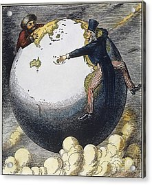 Imperialism Cartoon, 1876 Acrylic Print by Granger