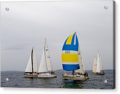 In The Race Acrylic Print by Tom Dowd