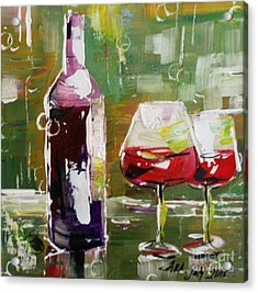 In Vino Veritas. Wine Collection Acrylic Print