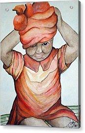 Indian Girl Acrylic Print by Tammera Malicki-Wong