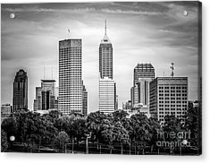 Indianapolis Skyline Black And White Picture Acrylic Print