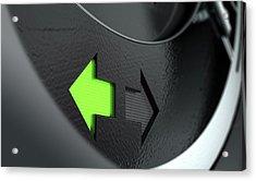 Indicator Dashboard Lights Acrylic Print by Allan Swart