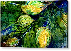 Indriel Blue Hosta Acrylic Print by Mary Sonya  Conti