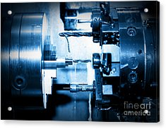 Industrial Cnc Drilling And Boring Machine At Work Acrylic Print