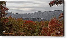 Infinite Smoky Mountains Acrylic Print by DigiArt Diaries by Vicky B Fuller