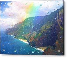 Inside A Rainbow Acrylic Print by Robby Donaghey