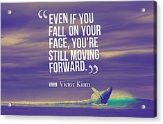 Inspirational Timeless Quotes - Victor Kiam Acrylic Print