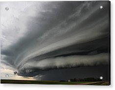 Intense Shelf Cloud Acrylic Print by Ryan Crouse