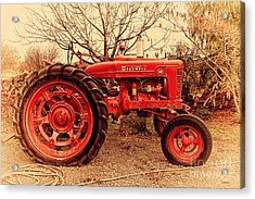 International Harvester Mccormick Farmall Farm Tractor . 7d10320 Acrylic Print by Wingsdomain Art and Photography