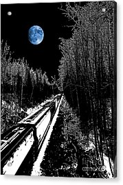Into The Night Blues Acrylic Print by The Stone Age