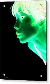 Inverted Realities - Green  Acrylic Print