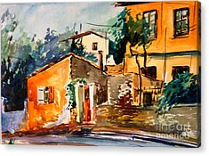 Ipiros Old Houses Acrylic Print by George Siaba