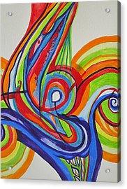 Iridescent Twister Acrylic Print