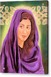 Acrylic Print featuring the pastel Irish Maiden by Jan Amiss