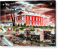 Iron County Courthouse II Acrylic Print by Kip DeVore