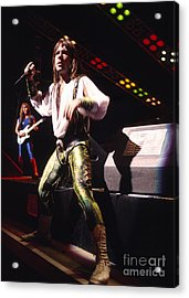Iron Maiden 1987 Bruce Dickinson Acrylic Print by Chris Walter