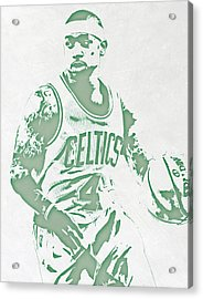 Isaiah Thomas Boston Celtics Pixel Art Acrylic Print by Joe Hamilton