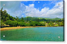 Island Of Maui Acrylic Print by Michael Rucker