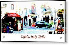 Italian City Street Scene Digital Art Acrylic Print