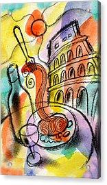 Italian Food Acrylic Print by Leon Zernitsky