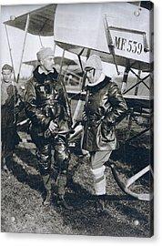 Italian Poet Writer Aviator Gabriele D Acrylic Print by Vintage Design Pics