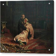 Ivan The Terrible And His Son Ivan On November 16, 1581 Acrylic Print by Ilya Repin