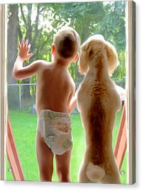 Jack And Buddy Acrylic Print by Russell Michael