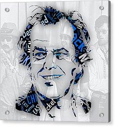 Jack Nicholson Movie Titles Acrylic Print