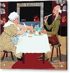 Jack Sprat Vintage Mother Goose Nursery Rhyme Acrylic Print